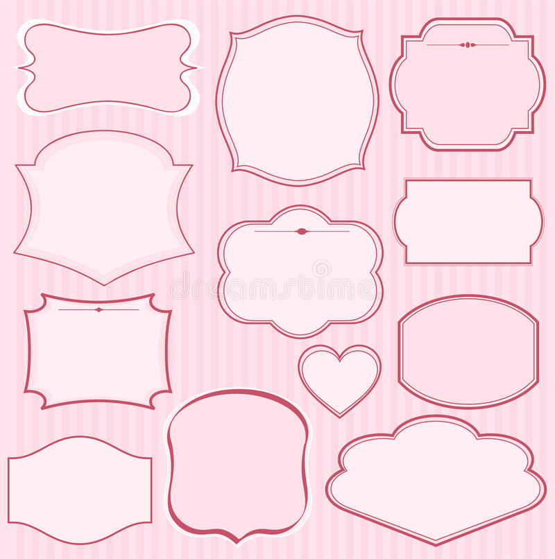 Download Set Of Pink  Frames Royalty Free Stock Photography - Image: 16565337