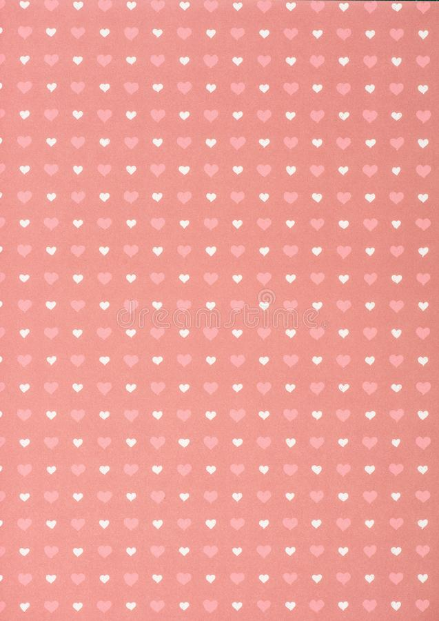 set of pink and white hearts stock images