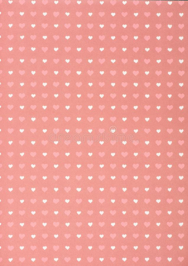 set of pink and white hearts vector illustration