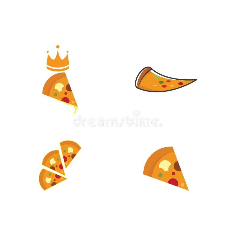 Pizza logo. Set of Pizza logo ilustration vector template, dinner, vintage, cuisine, courier, bar, baking, express, fast, food, corner, junk, tasty, fresh stock illustration