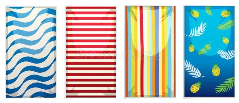 Set plażowy ręcznik royalty ilustracja