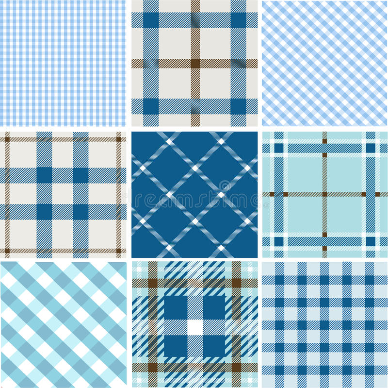 Download Set of plaid patterns stock vector. Illustration of design - 17465523