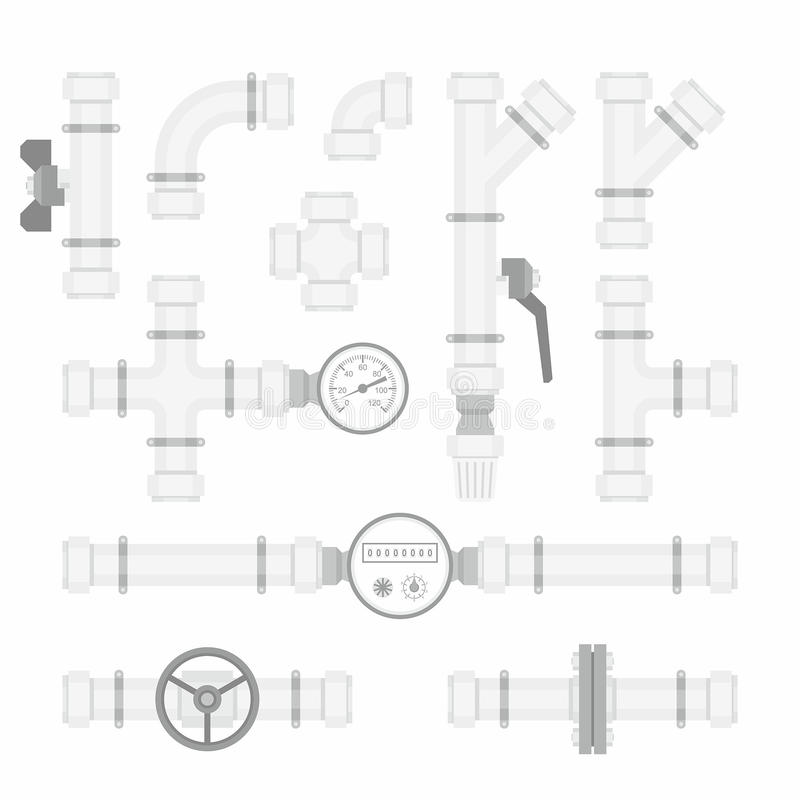 Set Plastikowe drymby ilustracji