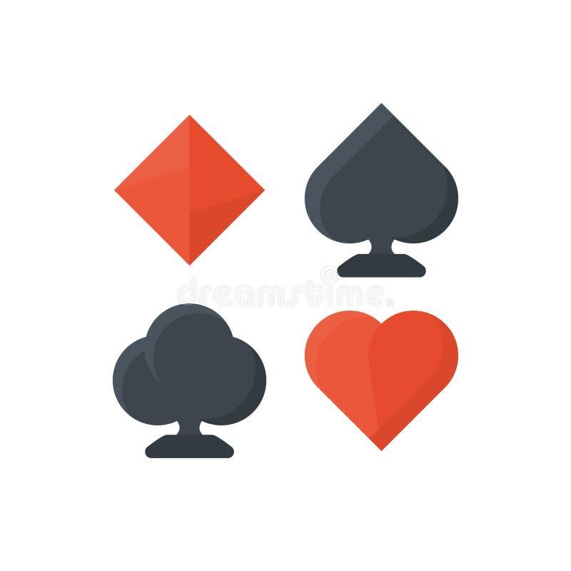 Set of playing cards symbols vector illustration