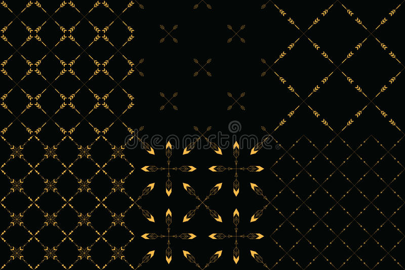 Set 6 plemiennego minimalizmu bezszwowych wzorów obraz royalty free