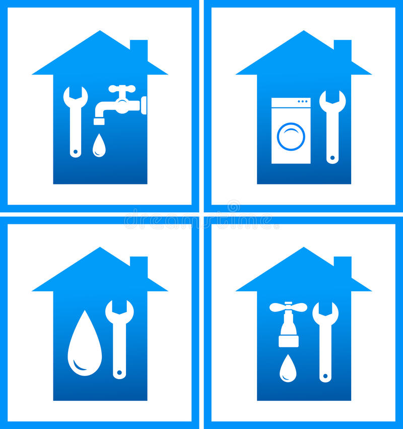 Set Of Plumbing Water Icons Stock Photos Image 29539823