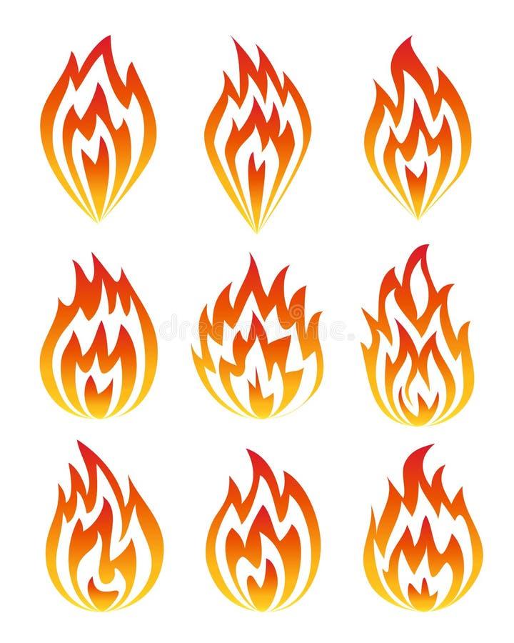 Set pożarnicze ikony. royalty ilustracja