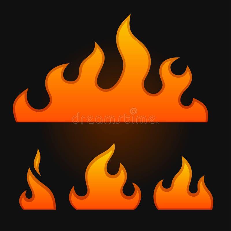 Set pożarniczy elementy royalty ilustracja