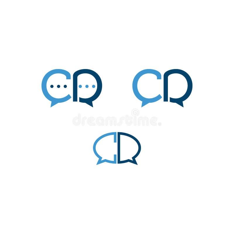 Set pocz?tkowego listu cd gadki ikona, dialog ikony logo wektorowy styl ilustracji