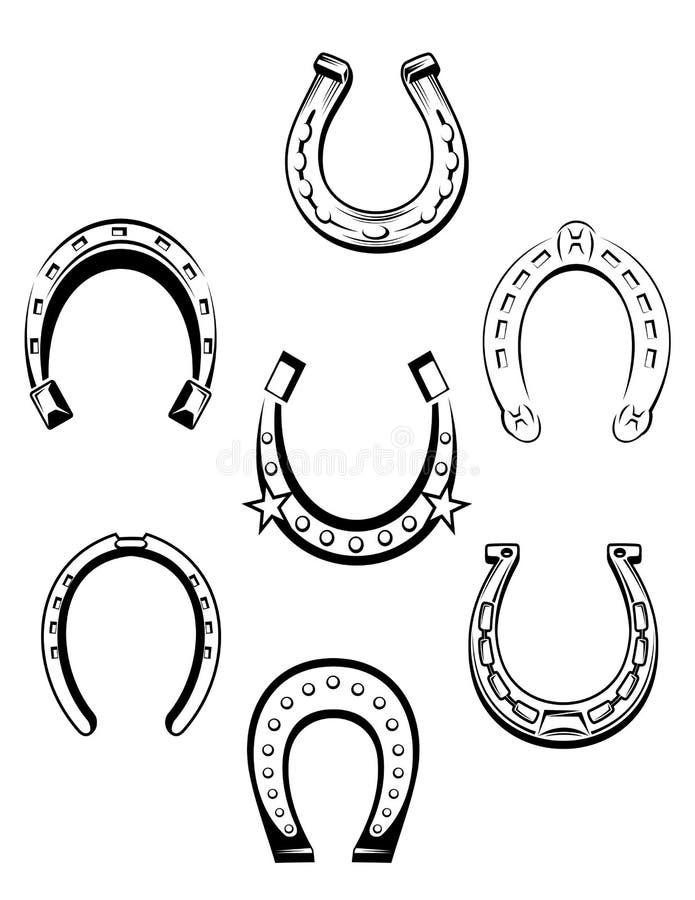 Set podków ikony royalty ilustracja