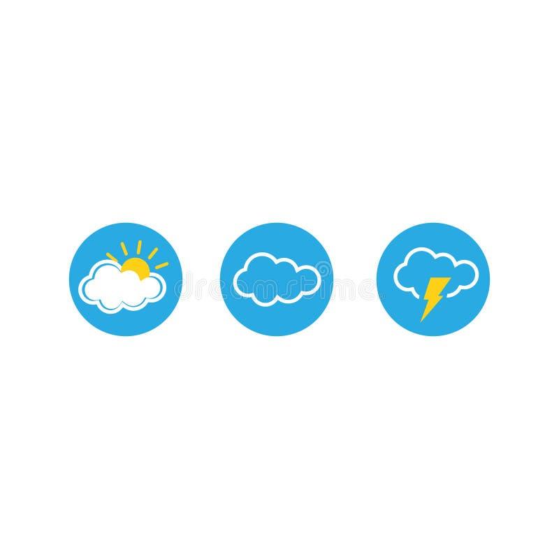 Set pogodowe wektorowe ikony również zwrócić corel ilustracji wektora 10 eps ilustracja wektor