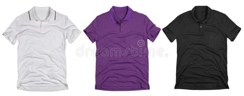 Set of polo shirt solated on white background. stock photos