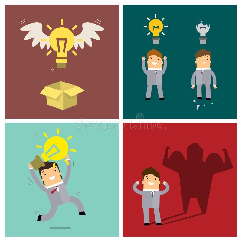 Set pomysłów pojęcia ilustracja wektor