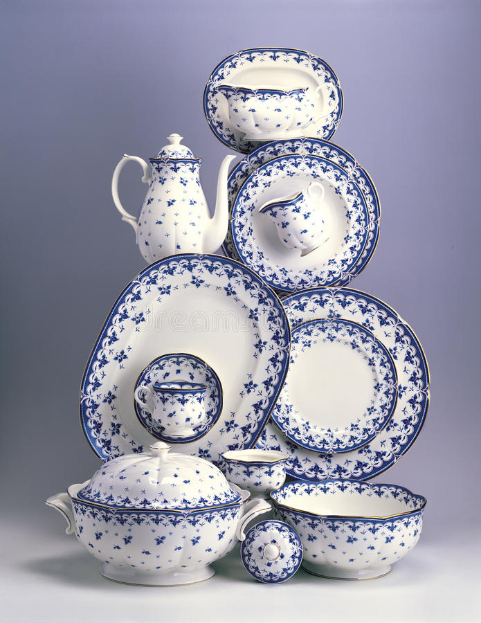 Download Set Of Porcelain Plates And Dishes Stock Photo - Image of lunch, porcelain: 39501794
