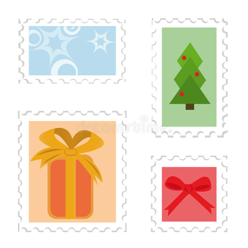 Download Set of postage stamps stock vector. Illustration of postage - 6839772