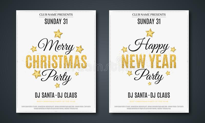Set posters for christmas and new year party invitation card the download set posters for christmas and new year party invitation card the text is stopboris Gallery