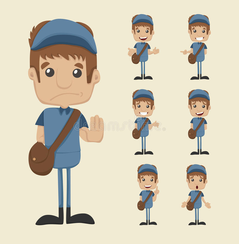 Download Set of postman stock vector. Illustration of manager - 39511278