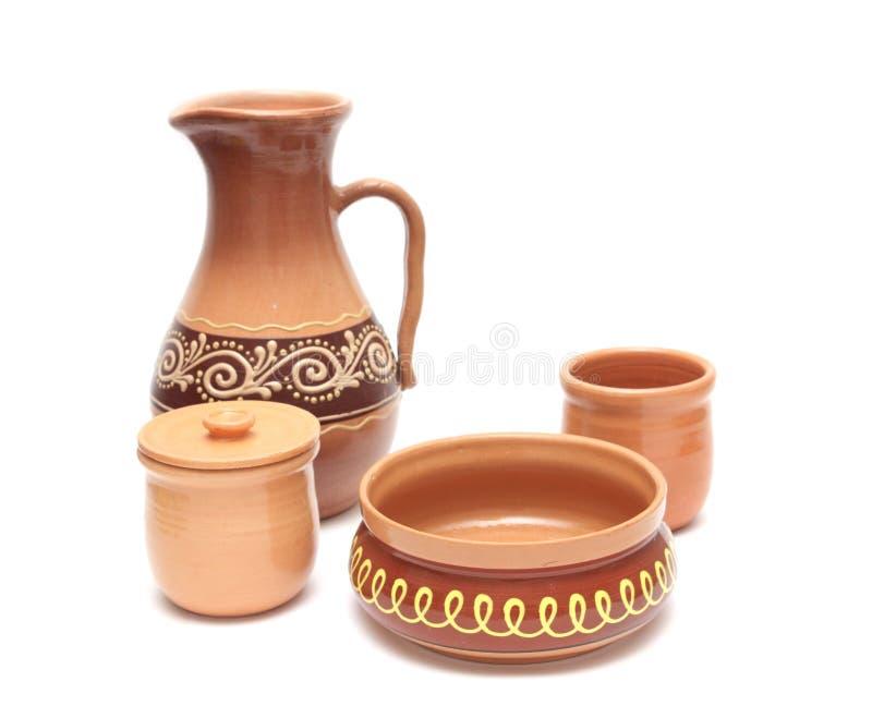 Set of pottery stock photo