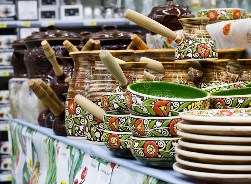 Set of pottery royalty free stock photo