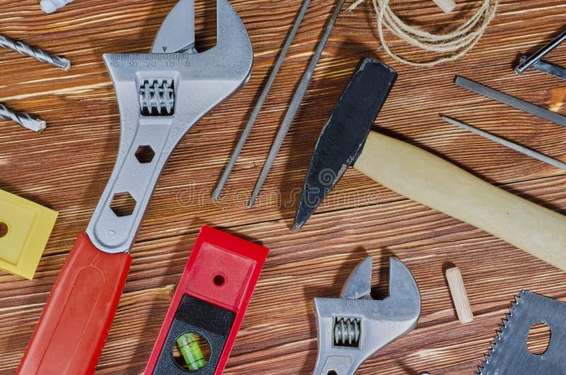 Set pracujący narzędzia dla robić gospodarstwo domowe obowiązek domowy fotografia stock