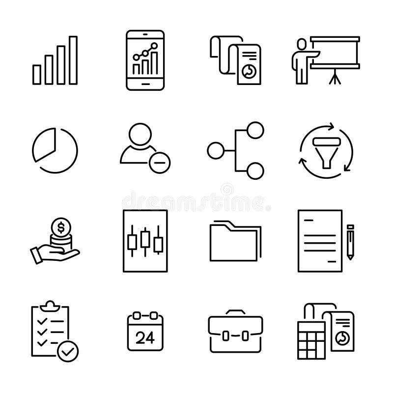 Set premie freelance ikony w kreskowym stylu ilustracja wektor