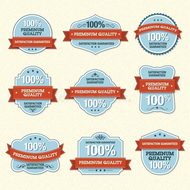 Set of Premium Quality Labels royalty free illustration