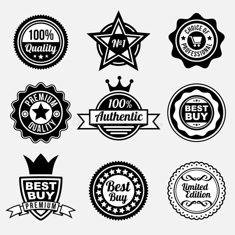 Download Set Of Premium Quality Labels Stock Vector - Illustration: 32711876