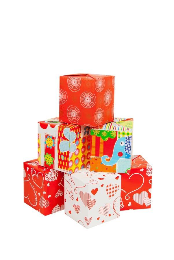 Set prezentów pudełka zdjęcia stock