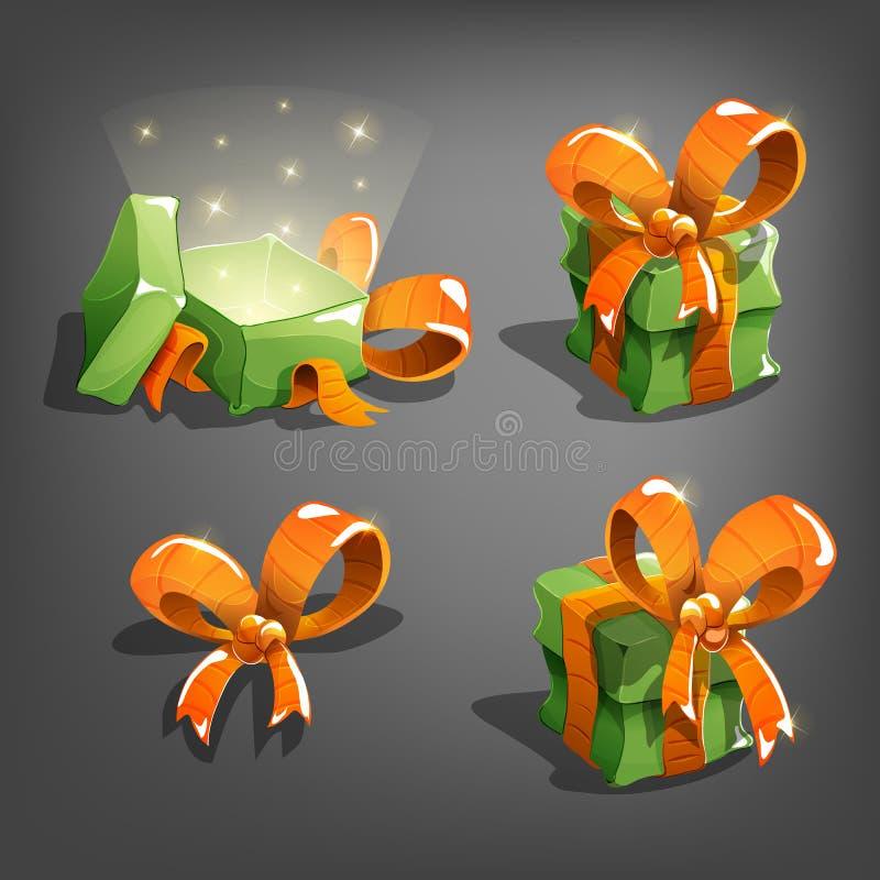 Set prezentów pudełka royalty ilustracja