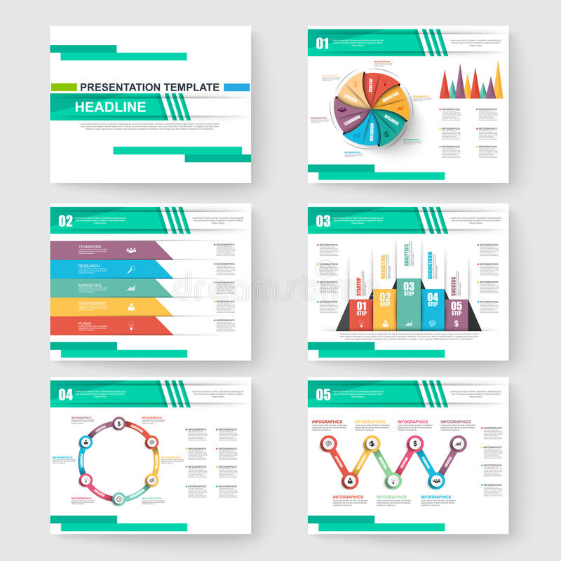 Set prezentaci obruszenia szablony Powerpoint royalty ilustracja
