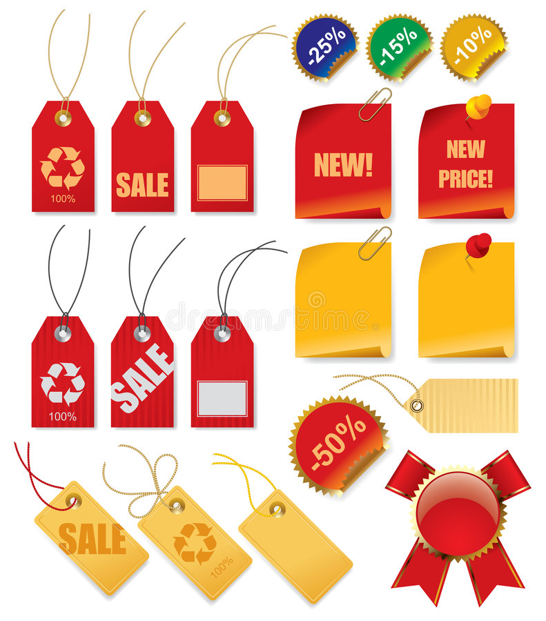 Set of price tags royalty free illustration