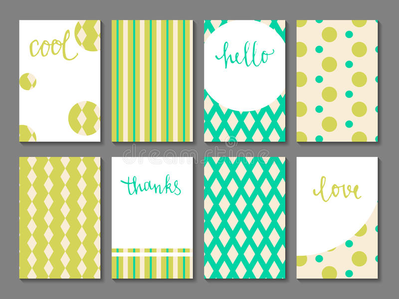 Set printable journaling karty royalty ilustracja
