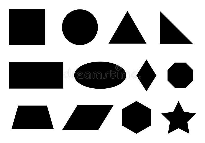 Set prości geometryczni kształty royalty ilustracja