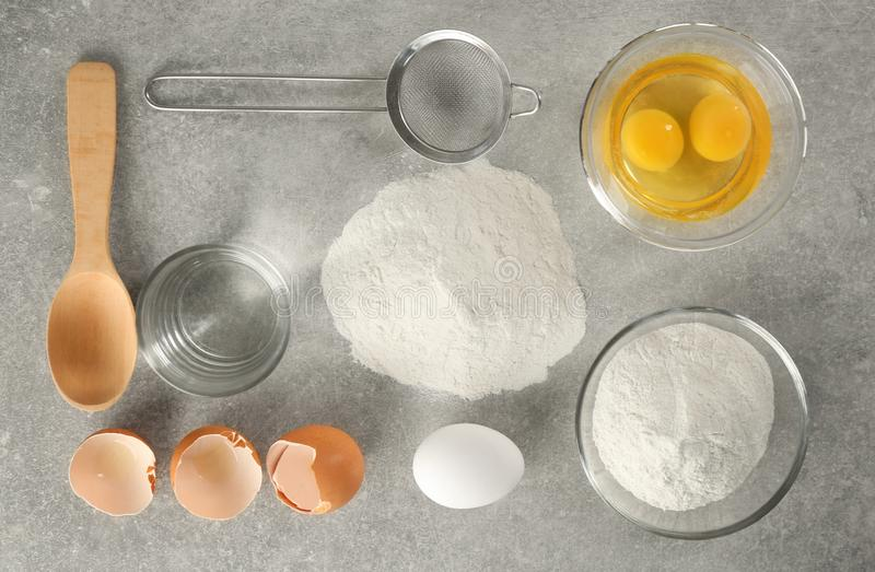 Set of products for making dough royalty free stock images