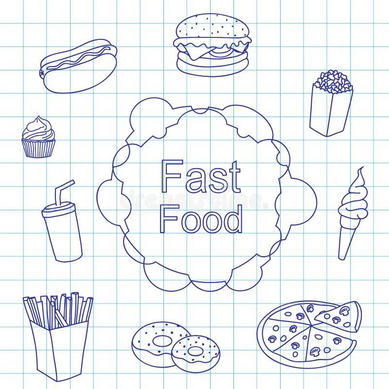 Set produktu fast food royalty ilustracja