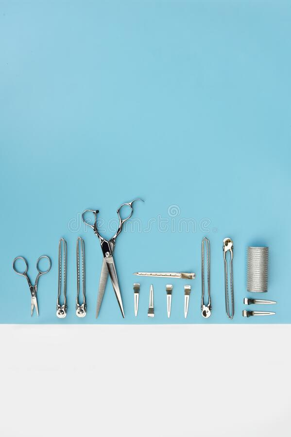 Set of professional hairdresser tools stock photography