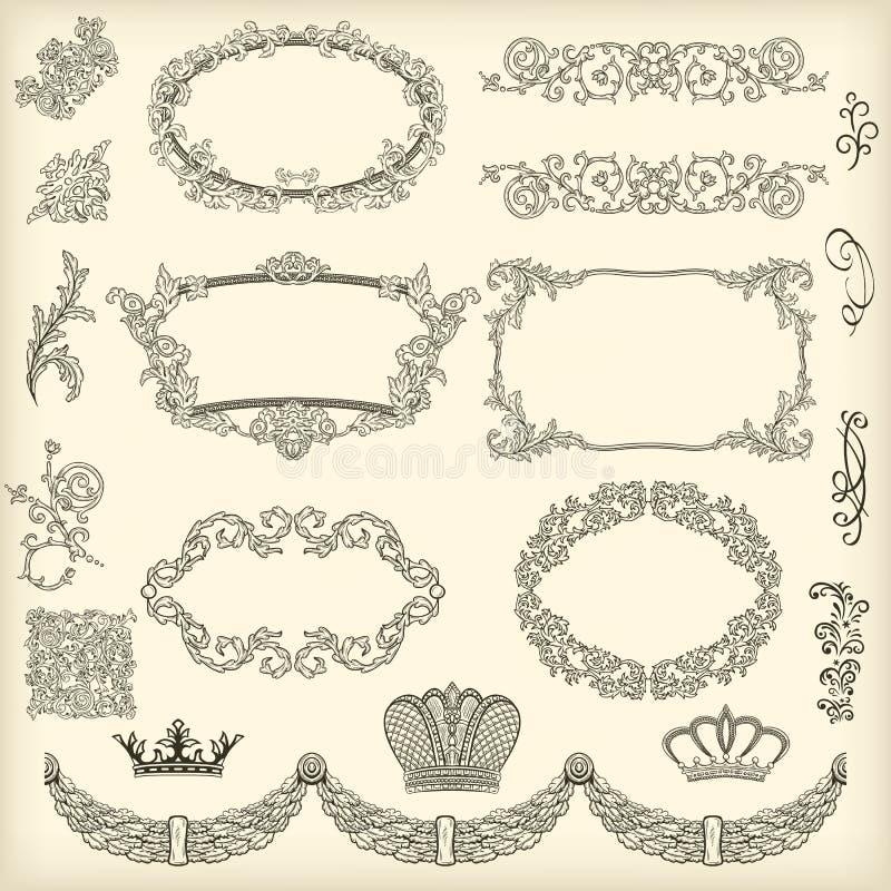 Set projektów elementy ilustracja wektor