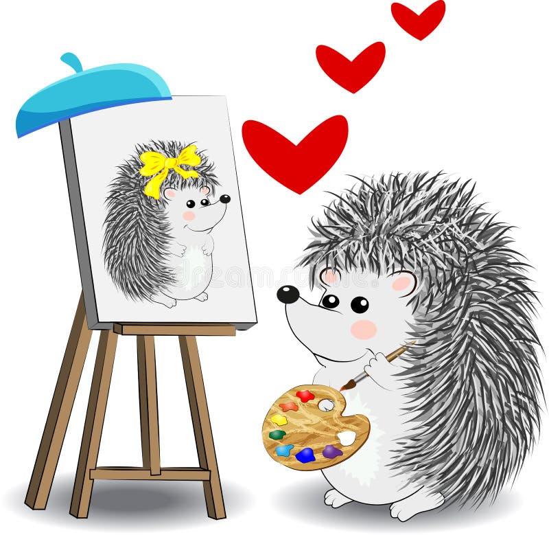 Set projektów elementy z zawodu malarza, artysty narzędziami dla i ilustracja wektor