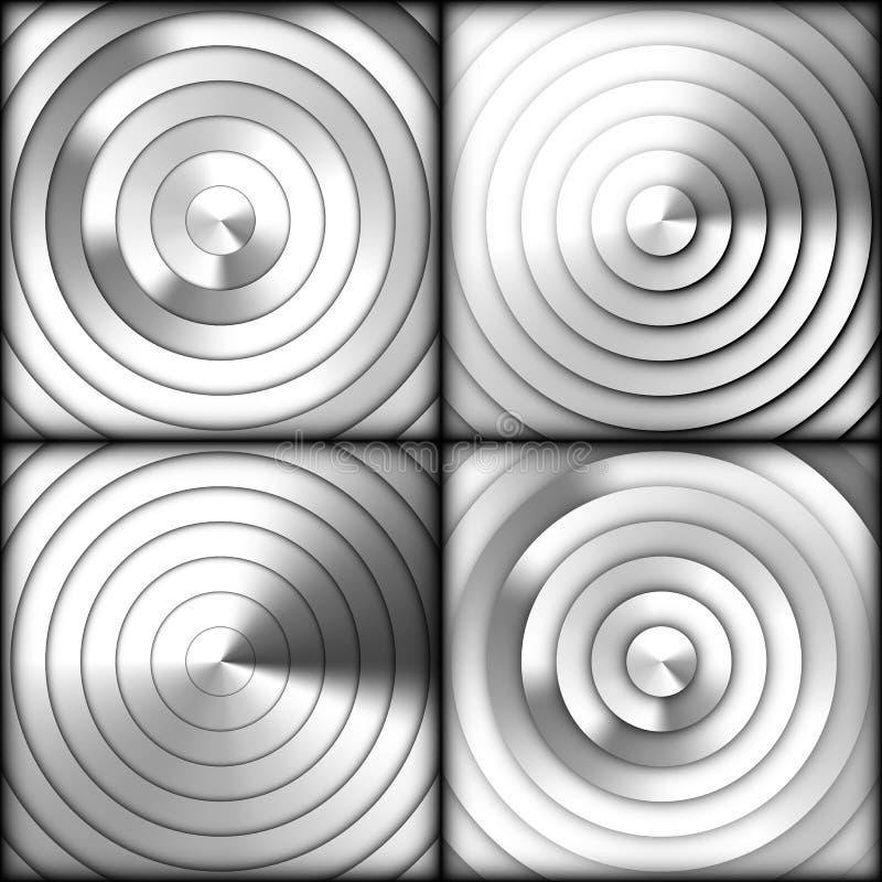 Set promieniowi srebni gradientowi tła ilustracji