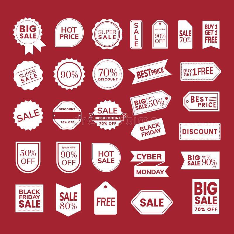 Set of promotion badge vectors stock illustration