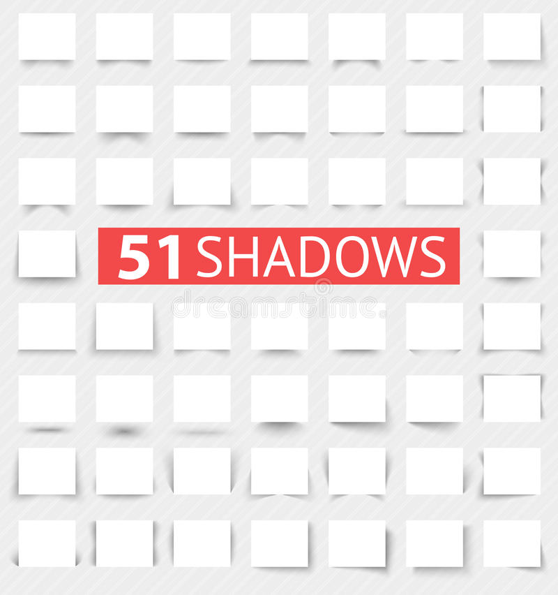 Set przejrzyści realistyczni cieni skutki ilustracja wektor