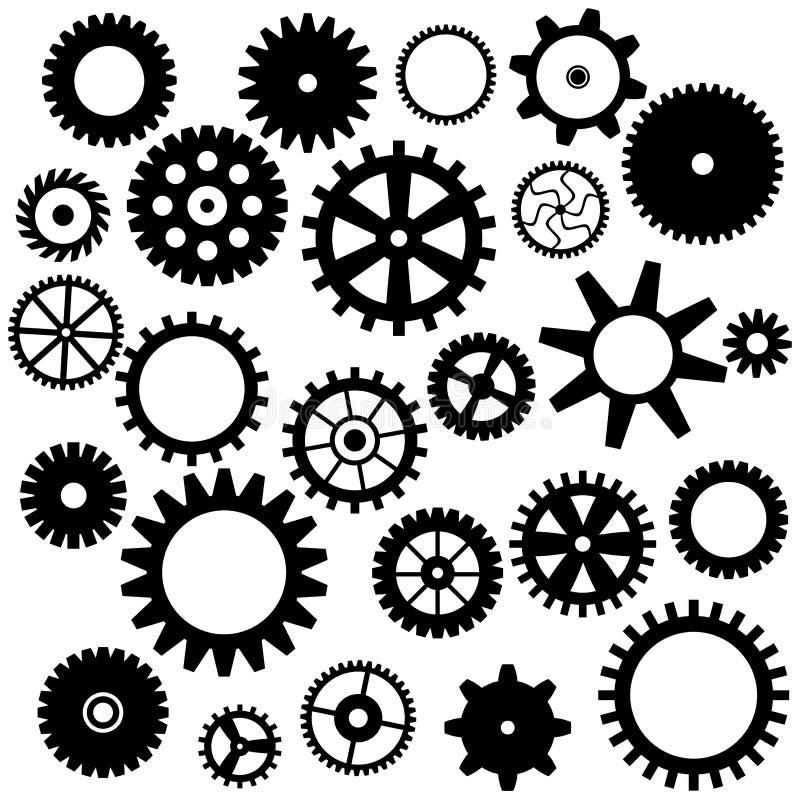 Set przekładni ikona ilustracji
