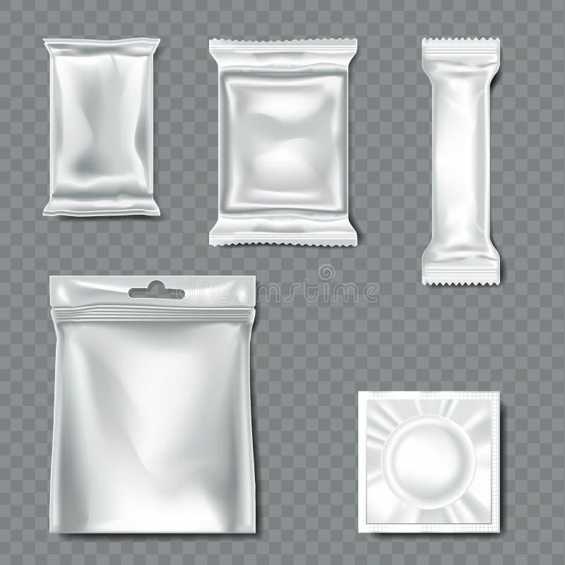 Set przepływ paczka na przejrzystym tle ilustracja wektor