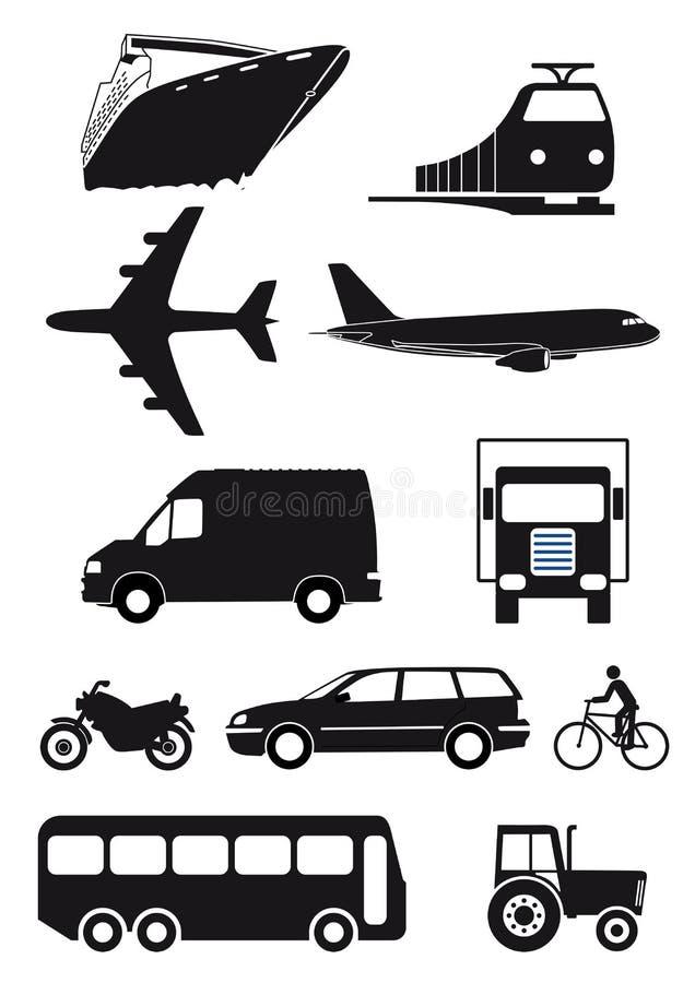 Set przewiezione ikony royalty ilustracja