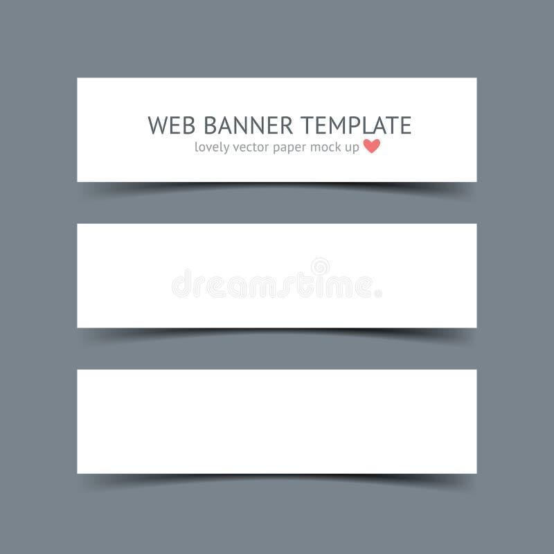 Set puści białego papieru sztandary ilustracji