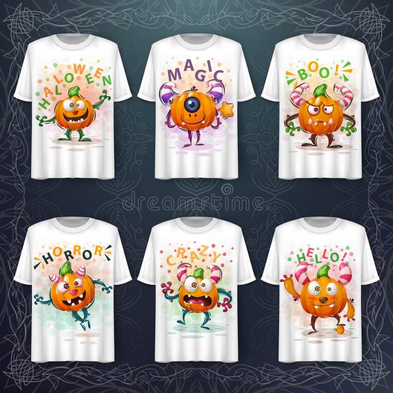 Free Set Pumpkin Monster - Mockup For Your Idea Stock Images - 160009154