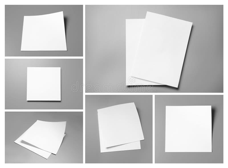 Set puste broszurki Egzamin pr?bny up dla projekta zdjęcia royalty free