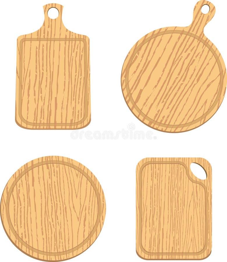 Download Set Puste Drewniane Tnące Deski Ilustracja Wektor - Ilustracja złożonej z wyznaczający, hardwood: 53775374