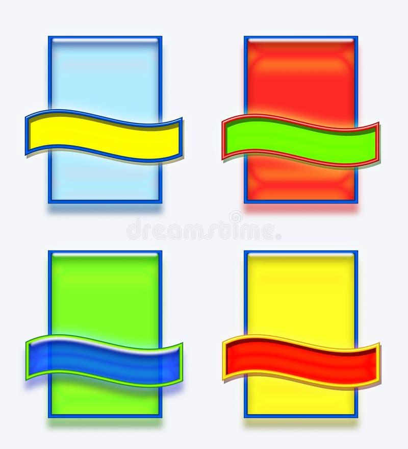 Set puste miejsce etykietki lub imię etykietki ilustracja wektor
