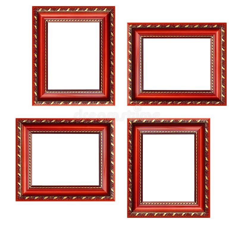 Set puste obrazek ramy z bezpłatną przestrzenią inside, odizolowywający dalej zdjęcia royalty free